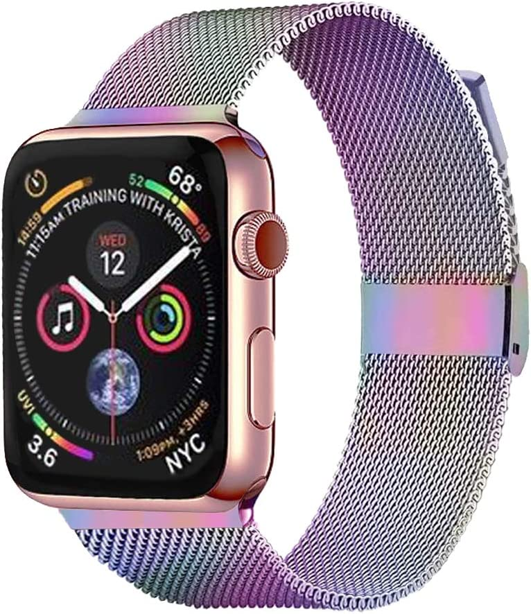 Pigetfy Compatible for Apple Watch Band 40mm 44mm Series 6, Series 5,Series 4,Series 3,Series 2,Series 1,Series SE and Wristband for Iwatch 38mm 42mm (Colorful, 38mm/40mm)