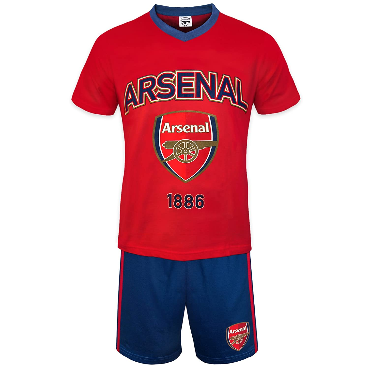 Arsenal FC Official Football Gift Mens Short Pyjamas Loungewear