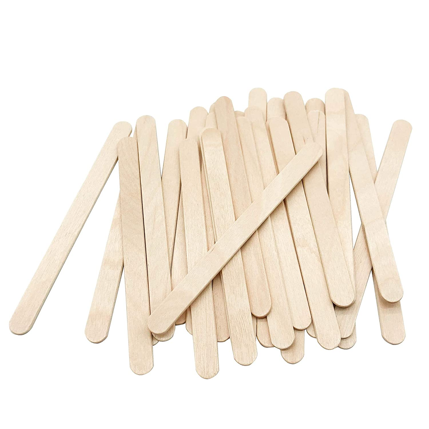 200 Pcs Craft Sticks Ice Cream Sticks Natural Wood Popsicle Craft Sticks 4.5 inch Length Treat Sticks Ice Pop Sticks for DIY Crafts