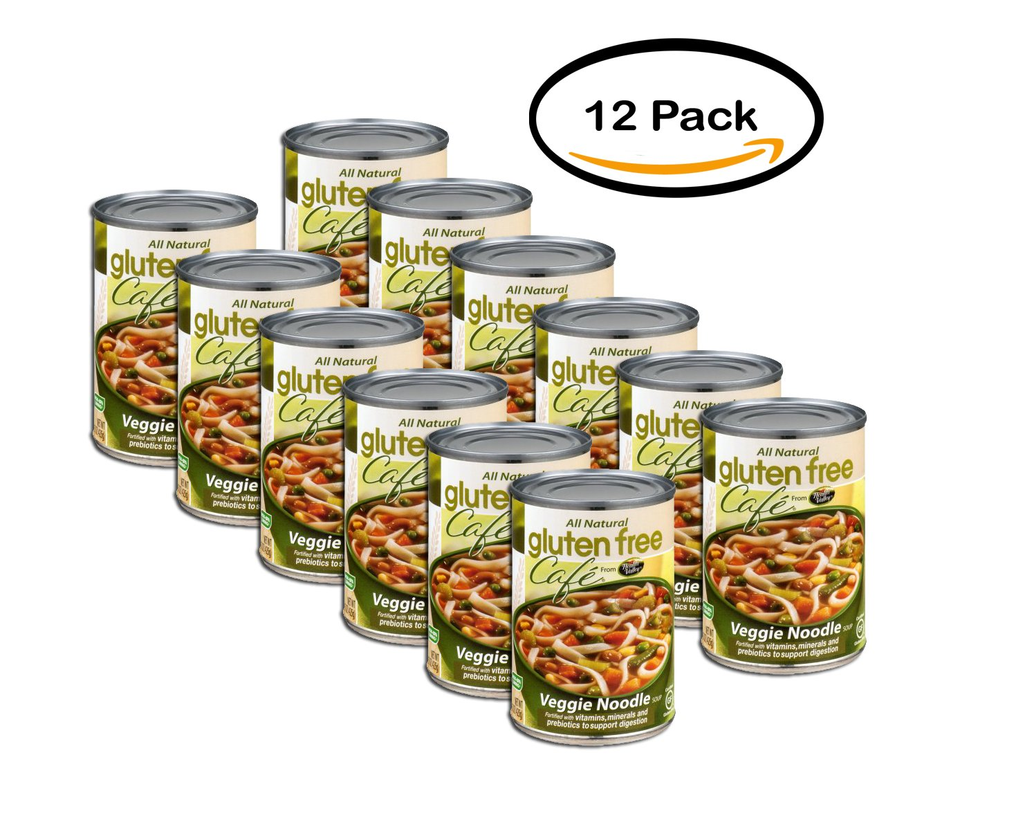PACK OF 12 - Gluten Free Cafe Soup Veggie Noodle, 15.0 OZ
