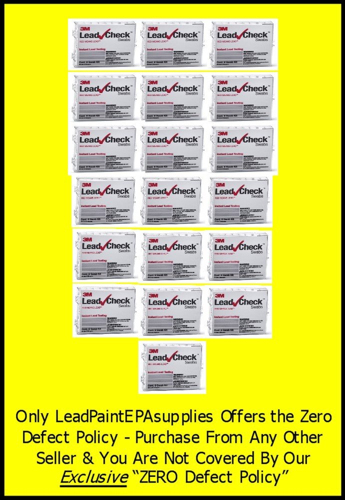 3M, 152 Swab 3M LEADCHECK Lead Tests with verification cards (19-8 packs) - Every swab is checked prior to being shipped for defects - 100% ready to use. LC-152S10C