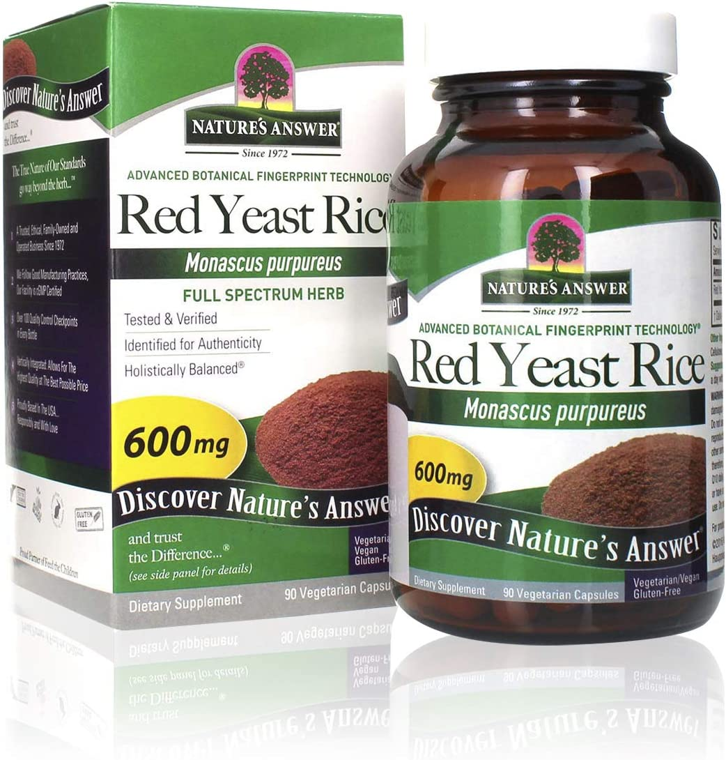 Nature's Answer Red Yeast Rice Vegetarian Capsules, 90-Count
