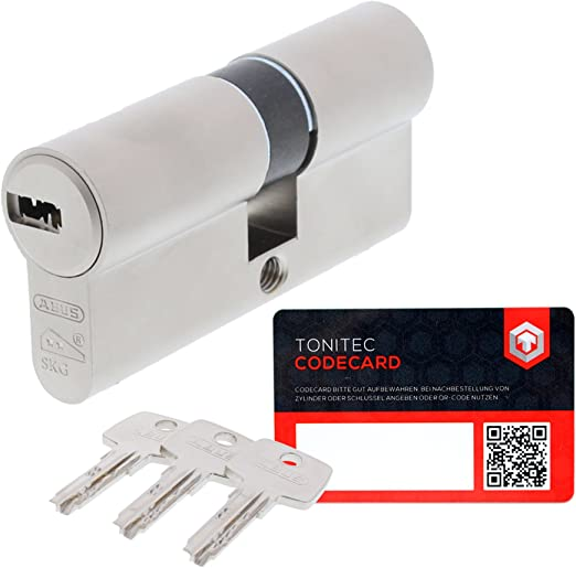 Sicherheits Türzylinder-60mm Zylinderschloss inkl 3 Schlüssel IN-60