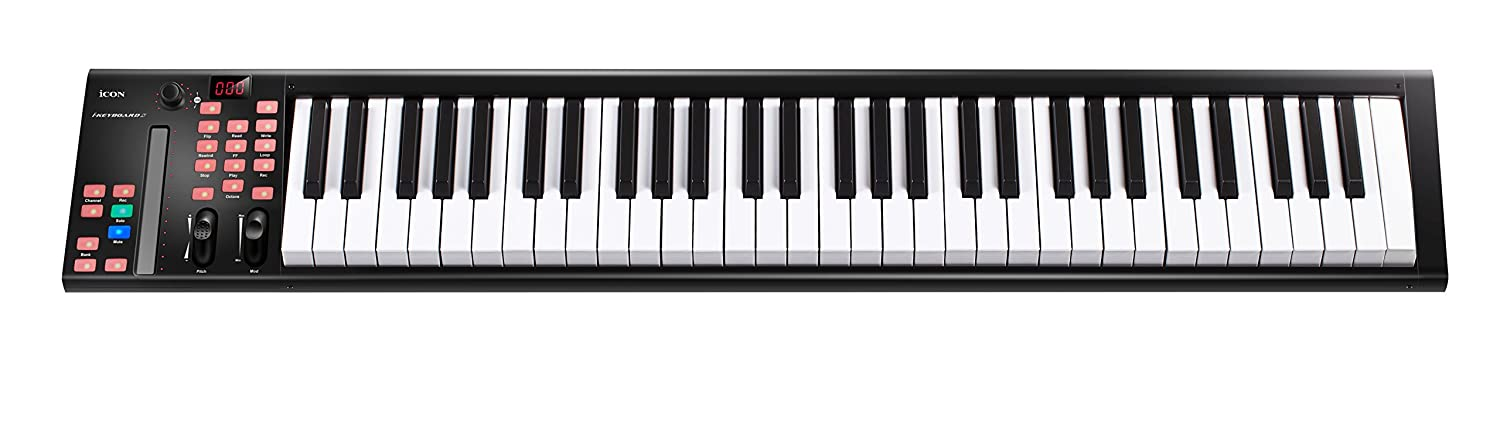 Icon Pro Audio Icon ICOK-IKEYBOARD3X IKeyboard3x 25 key piano keyboards with a single channel DAW controller in a rugged metal enclosure, Note