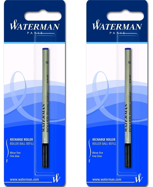 Waterman colore: Blu 2 ricariche per roller taglia fine