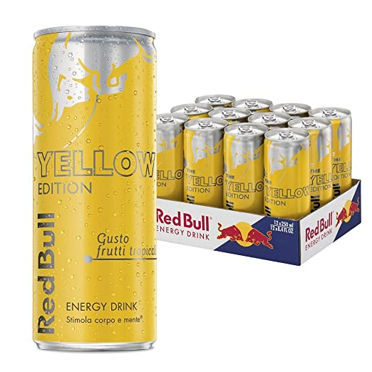 5 opinioni per Red Bull Yellow Edition Energy Drink 250ml (cartone da 12)