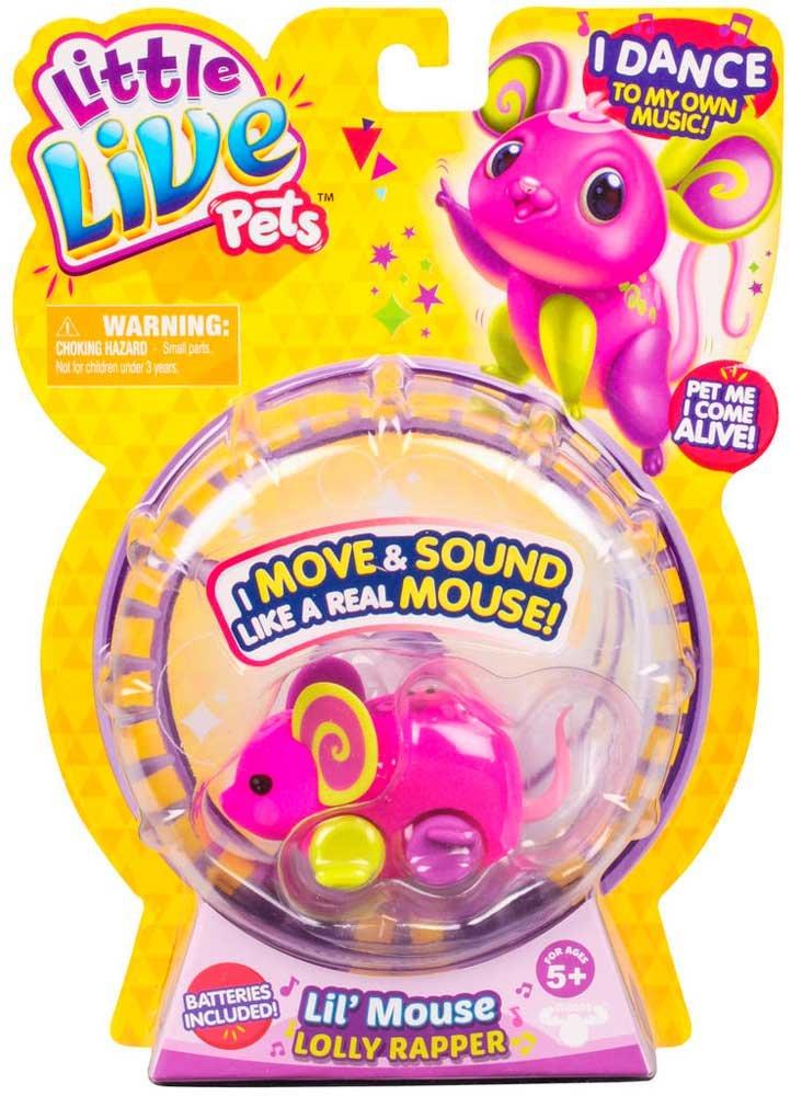 Famosa 700013660 little live pets Ratones Juguetones Serie 3 Lolly Rapper
