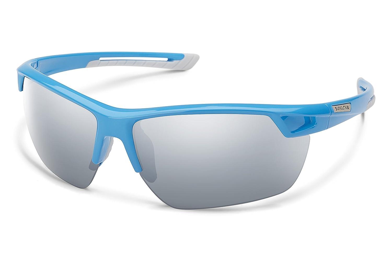 Suncloud Suncloud Contender Polarized Sunglasses Blue Frame//Silver Mirror Polycarbonate Lens One Size Smith Optics