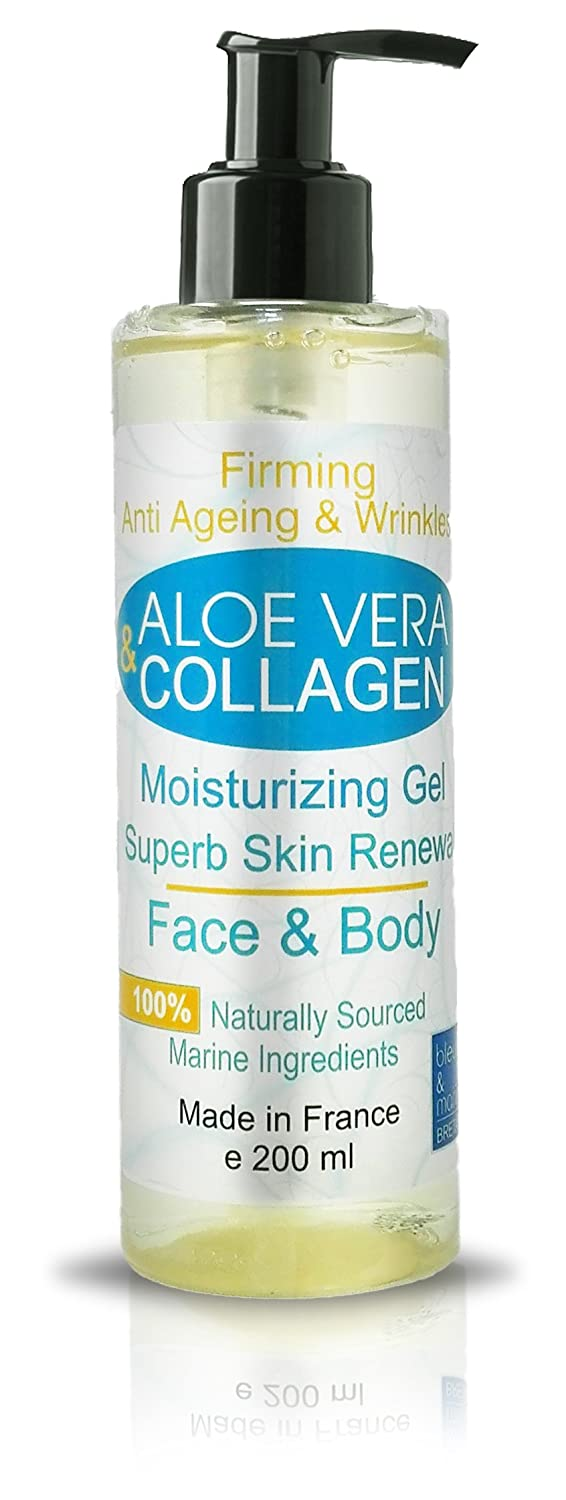Gel de Aloe Vera y Colágeno Antiarrugas - 200 ml Cara y Cuerpo Gel Hidratante Reafirmante - Escote - Anti Estrias: Amazon.es: Belleza
