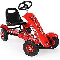 TecTake Go Kart Coche con Pedales (Rojo  