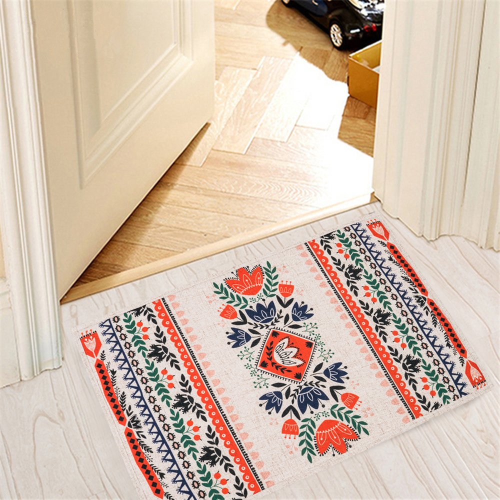 Mr Fantasy Kitchen Mat Non Slip Entry Way Doormat Absorbent Area Accent Rug Runner Rug Floral 20'' X 31'' by MR FANTASY
