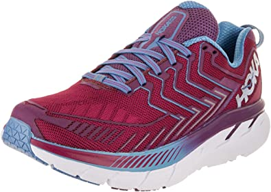 Hoka One 1016724-CJPP : One Womens Clifton 4 Running Shoe Cherries/Jubilee (6 B(M) US): Amazon.es: Zapatos y complementos