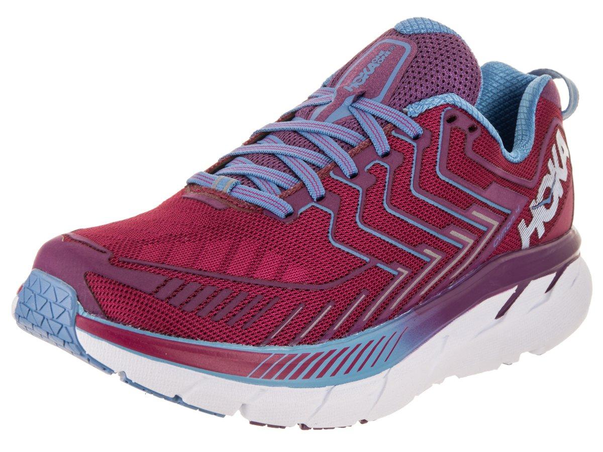 HOKA ONE ONE Women's Clifton 4 Running Shoe B071HXHGSK 7.5 B(M) US|Cherries Jubilee / Purple Passion