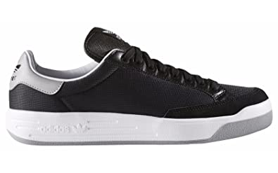buy online 61fb0 cd1f8 Adidas Men s Rod Laver Super Fashion Sneaker, Black White Medium Grey  Heather,