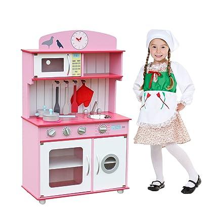 Deluxe Wooden Kitchen Toy, Spark Kidsu0027 Imagination, Pretend Kids Children  Role Play Set