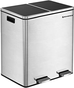 Songmics 16-gallon Kitchen Trash Can