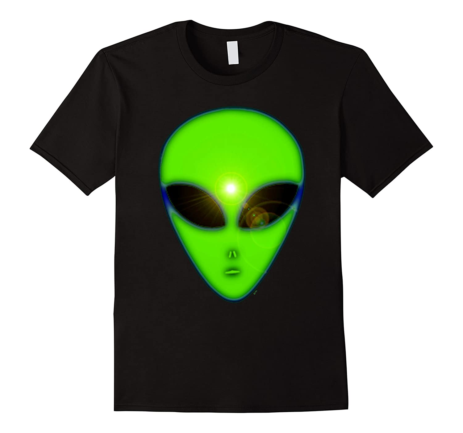 Glowing Green Space Alien T-Shirt-TD