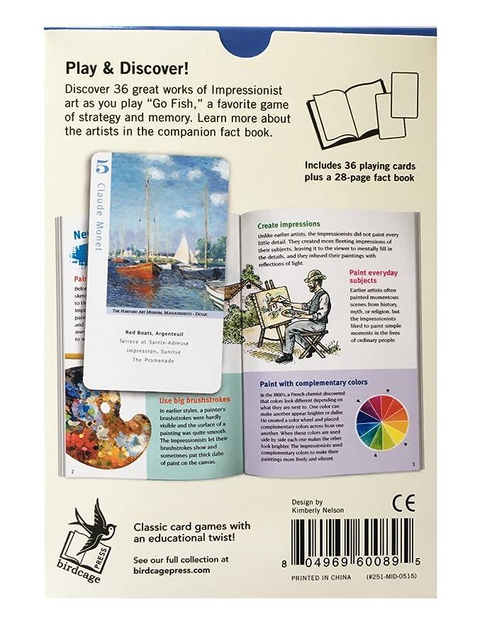 Amazon com: Impressionist Artists Go Fish for Art Cards