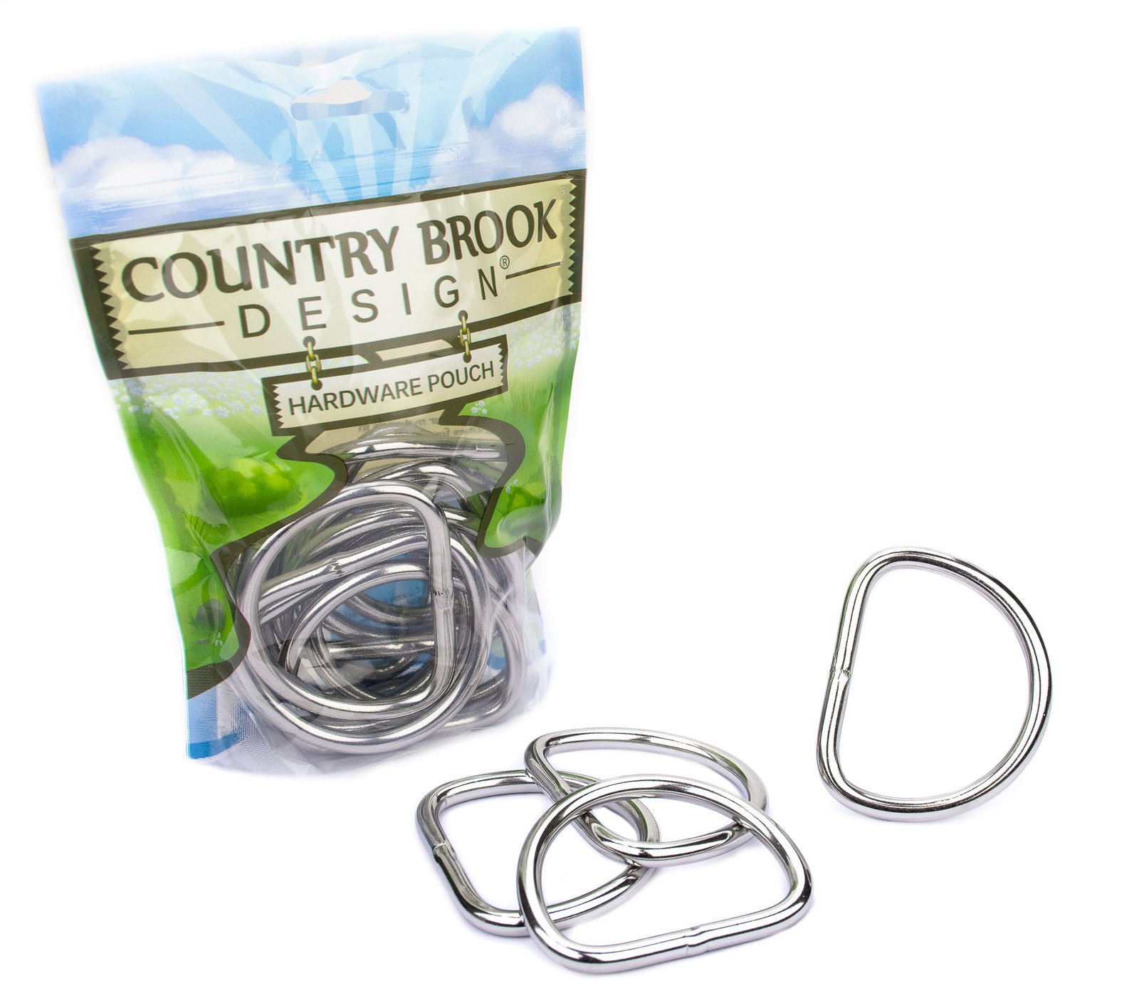 25 - Country Brook Design - 2 Inch Stainless Steel Welded D-Rings by Country Brook Design
