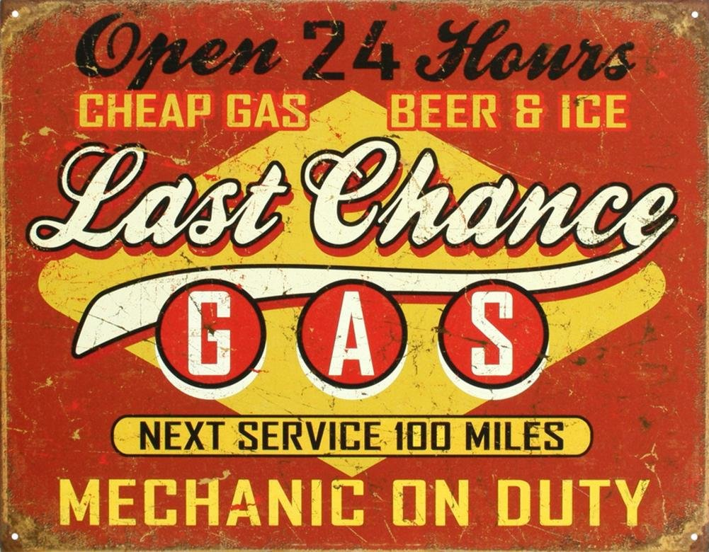 Gas Tin Sign 13 x 16in Poster Revolution