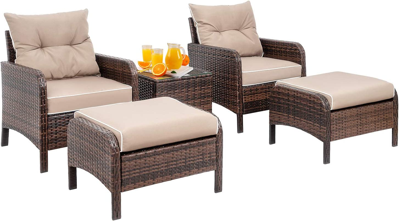 Shintenchi TK5, patio-conversation-sets, With Arm, Khaki : Garden & Outdoor