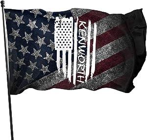 Wolfdinner American Flag by U.S. Veterans Owned American Flag Kenworth Flag 3x5 Ft
