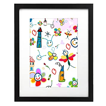 kids artwork frame 11x14 inch black picture frame made to display pictures 8x10 with - Kids Art Frame