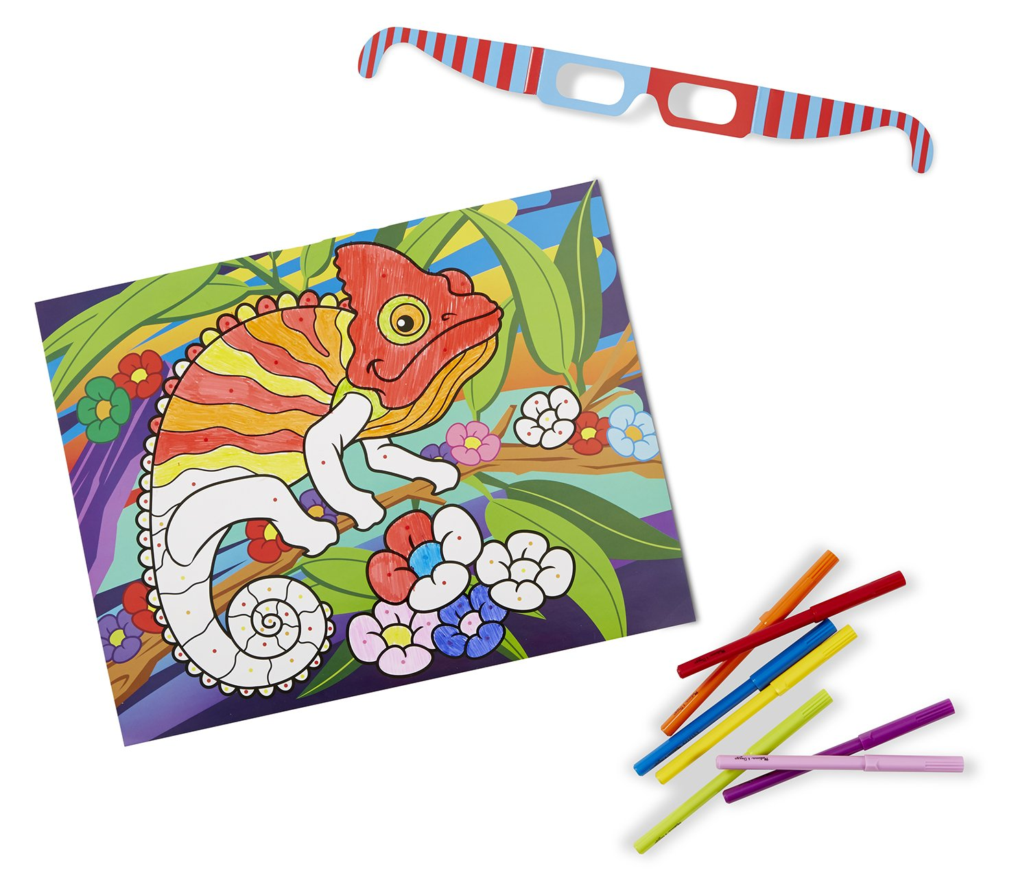 Buy Melissa & Doug 3D Coloring Book - Animals, Multi Color Online at ...