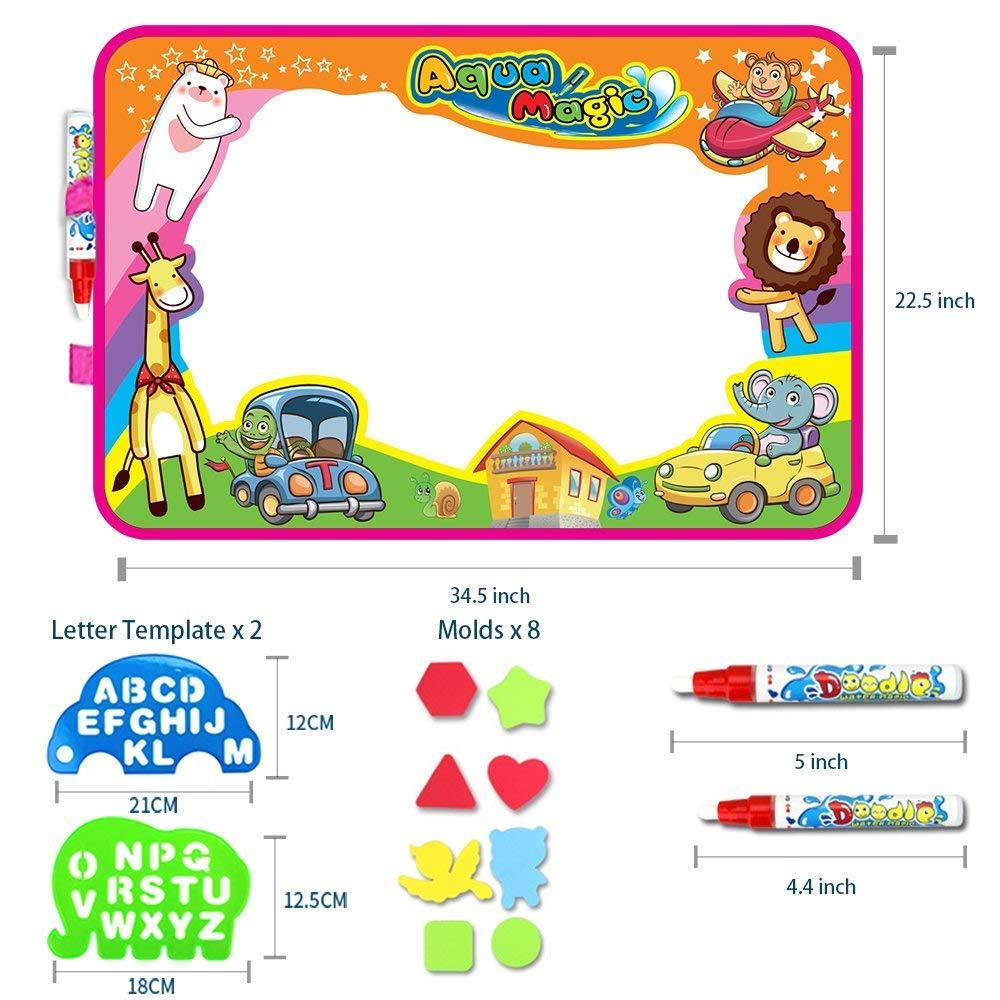 YIY Dibujo de la almohadilla mágica con 2 bolígrafos mágicos / 10 plantillas, regalos para niños y niñas (34.5 pulgadas x 22.5 pulgadas): Amazon.es: Hogar