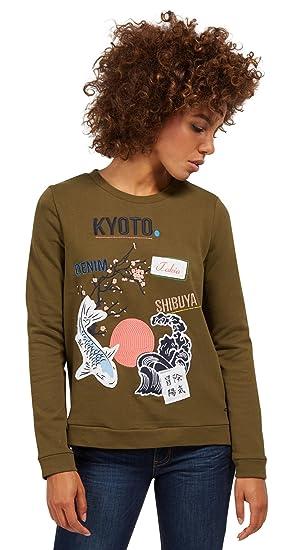 f2032248d54e5e TOM TAILOR Denim Damen Sweatshirt: Amazon.de: Sport & Freizeit