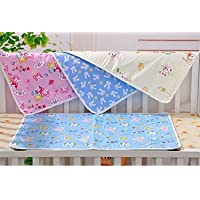 First Smile Nappy Changing Mat Water Proof Bed Protector with Foam Cushioned for Newborn Baby, 0-6 Months (Multicolour) - Pack of 4