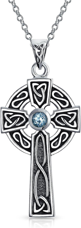 Irish Mother/'sGrandmother/'s necklace Trinity kids CELTIC Trinity Kids Birthstone Pendants Scottish Mother/'s Necklace