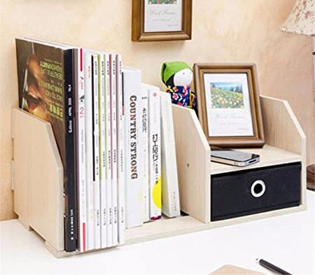 Freestanding Book Shelf Desk Top Organization Creative With Drawers Office Little Bookshelf Table Summary