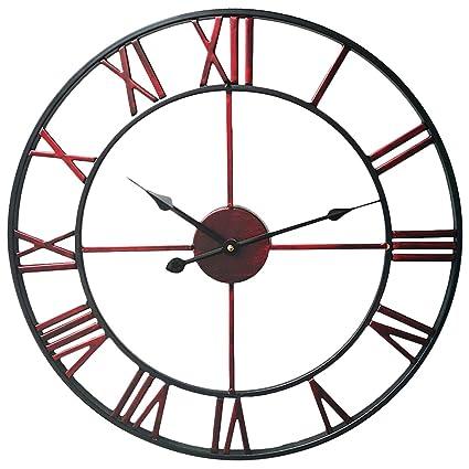 Relojes de Pared Vintage, Teckpeak Metal 50CM Relojes de Pared para Cocina