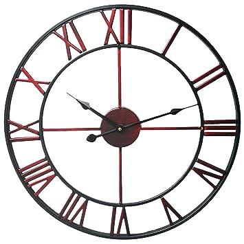 Relojes de Pared Vintage, Teckpeak Metal 50CM Relojes de Pared para Cocina: Amazon.es: Hogar