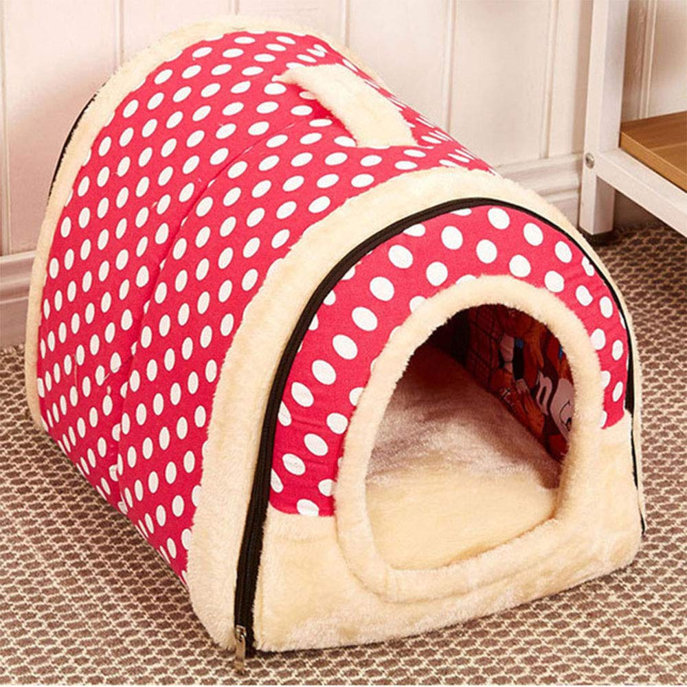 E Medium E Medium Retro Wall Tiles Dog Bed, Washable Pets Cats and Dogs Dual-Use Pads Metal Zipper Non Slip Pet Products S M L,E,M