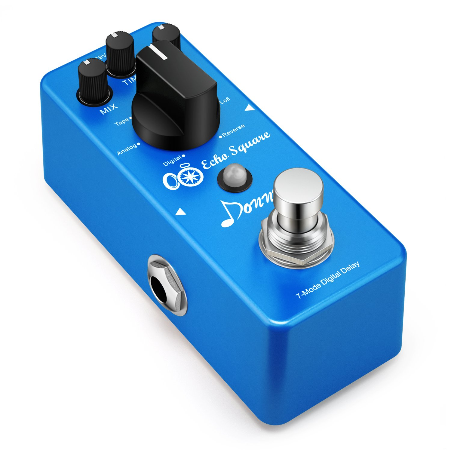 Donner Multi Digital Delay Pedal Echo Square Guitar Effect Pedal 7 Modes by Donner