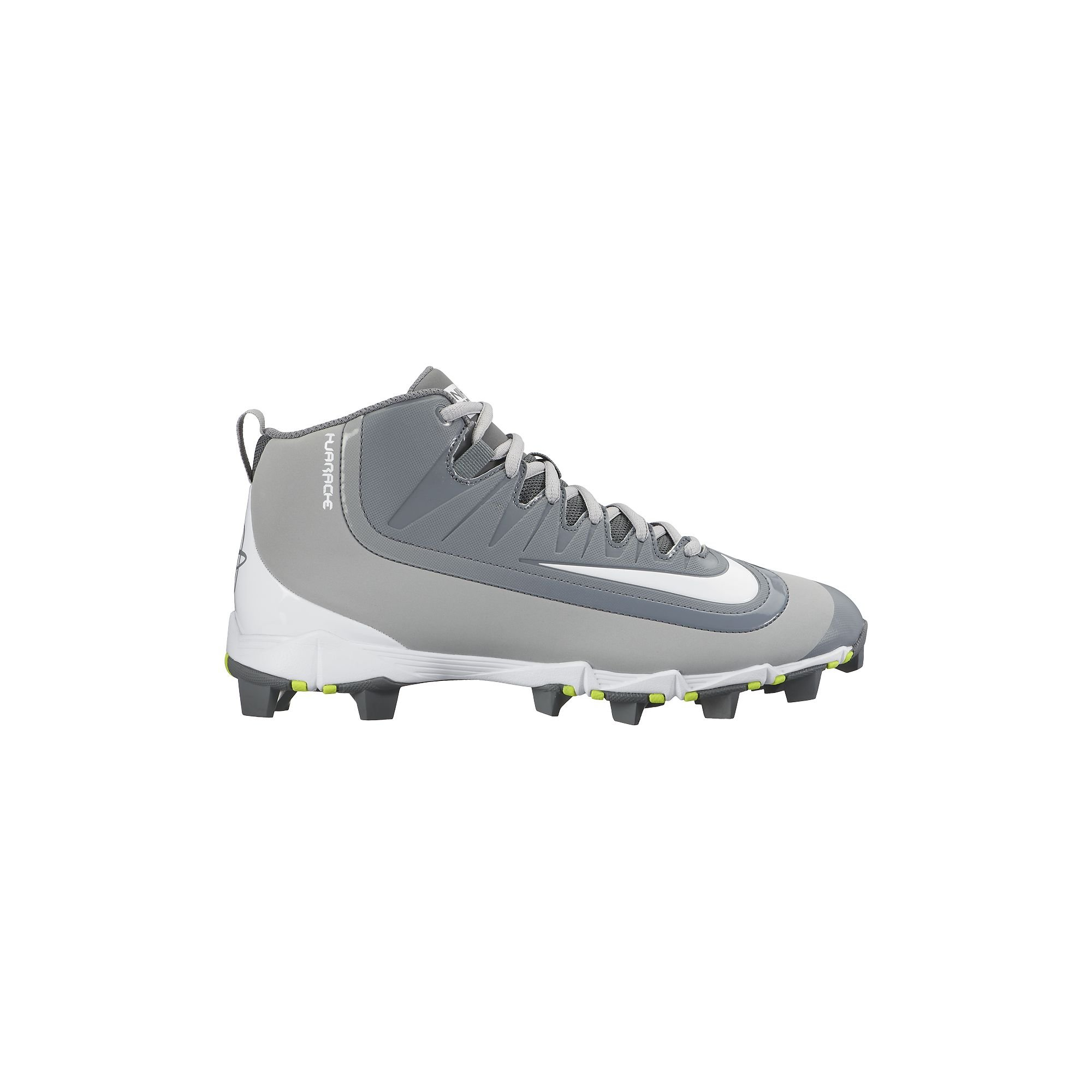c16a5936465 Galleon - Nike Men s Huarache 2KFilth Keystone Mid Baseball Cleat Cool  Grey Platinum White Size 8 M US