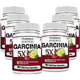 Morpheme Remedies Garcinia 5X (Garcinia, Coffee, Green Tea, Forskolin, Grape Seed) 60 Veg Caps - 6 Bottles