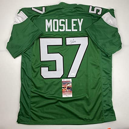 Autographed/Signed CJ C.J. Mosley New York Green Football Jersey ...