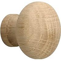 Metafranc Meubelknop Ø 35 mm - eiken - onbehandeld - hoogwaardige afwerking - mooi vormgegeven & decoratief - incl…