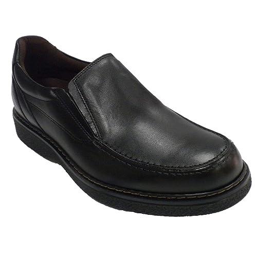 Zapato Hombre Sport Piso Goma Pitillos en Negro: Amazon.es: Zapatos y complementos