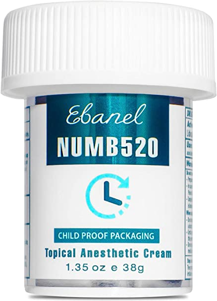 Numbing Cream 5% Lidocaine Topical Anesthetic– Fast Acting Microneedling/Tattoos