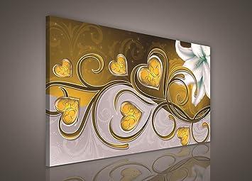leinwandbild bild wandbild bilder wandbilder canvas- gold herz ... - Leinwandbilder Für Küche
