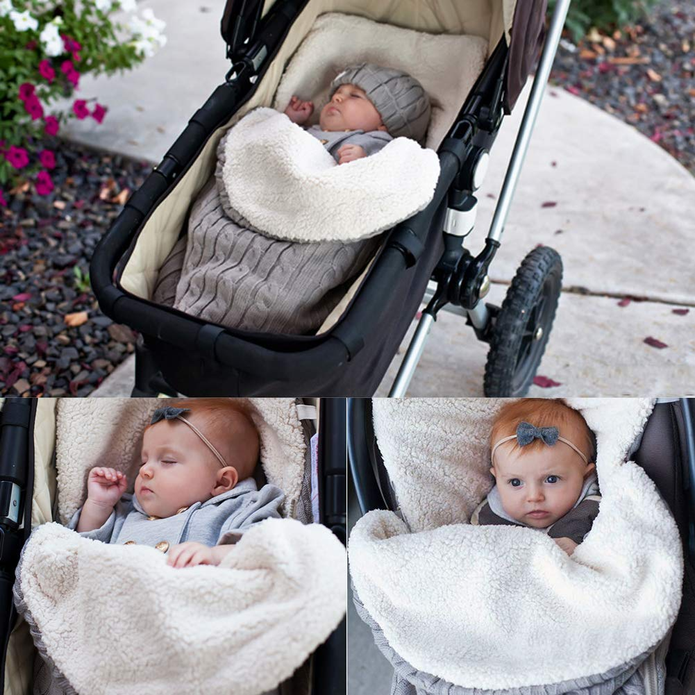 50ef3c4c2d Saco de dormir colorido para bebés recién nacidos Cálido y cómodo Botón de  punto Manta envoltura de bebé para cochecitos Cochecitos o cochecitos   Amazon.es  ...