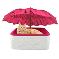 Parasol Pets ® Garden Themed Design Indoor Cats Small Dogs, Furniture Quality Base, Suede Cloth/Foam Cushion-Custom Umbrella