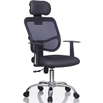 amazon com yaheetech mesh chrome adjustable executive office