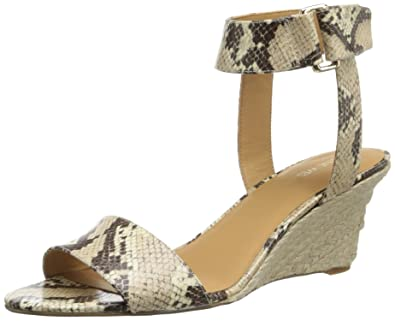 Nine West Women's Riley Wedge Sandal,Natural Synthetic,6.5 ...