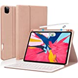 iPad Pro 11 Case Keyboard 2020/2018 with Pencil Holder - 7 Color Backlit Detachable Wireless BT Keyboard - Ultra Slim PU Leat