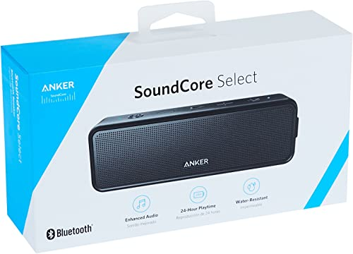 Anker Soundcore 2 Portable Bluetooth Wireless Rechargeable 12-Watt Speaker with Superior Stereo Sound, Exclusive BassUp, IPX5 Water-Resistant and 24-Hour Playtime, Black
